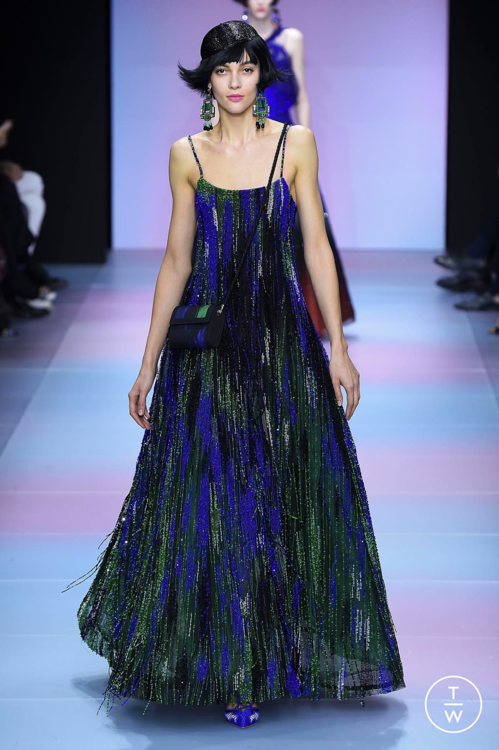 Fashion Week Paris Spring/Summer 2020 look 54 from the Giorgio Armani Privé collection couture