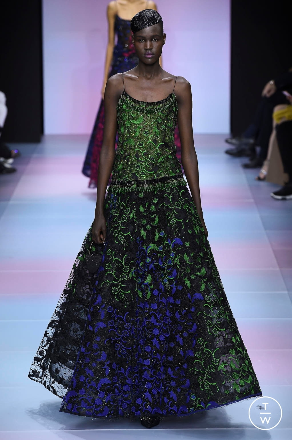 Fashion Week Paris Spring/Summer 2020 look 69 from the Giorgio Armani Privé collection couture