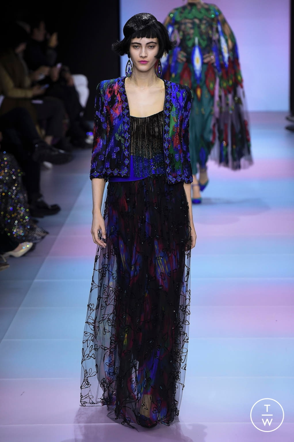 Fashion Week Paris Spring/Summer 2020 look 73 from the Giorgio Armani Privé collection couture
