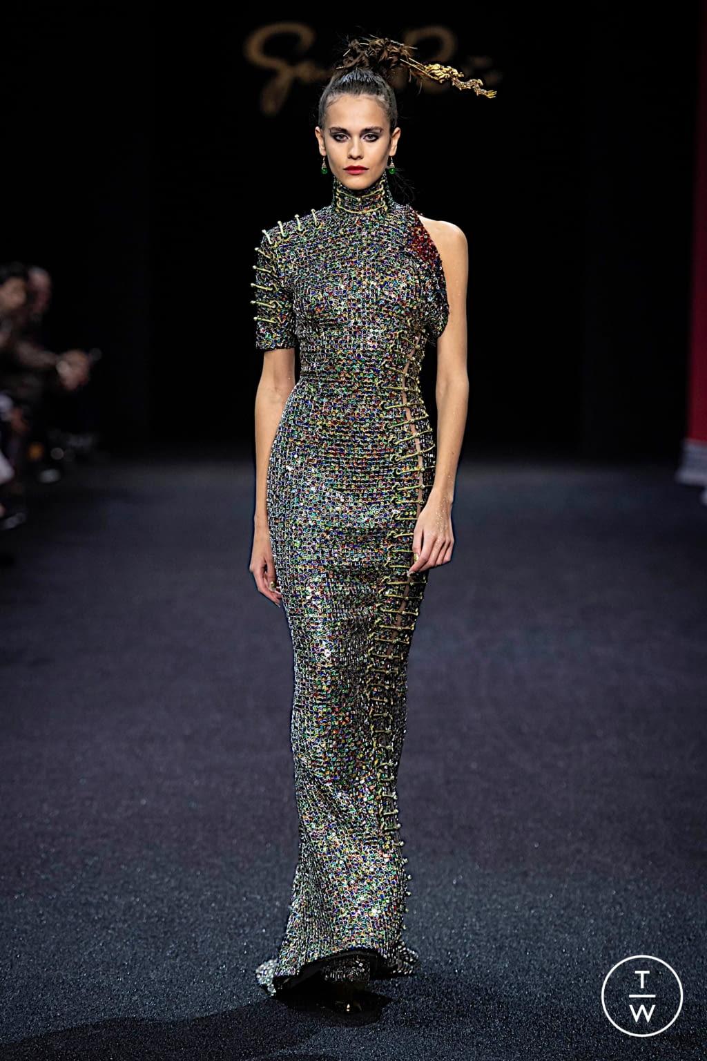 Fashion Week Paris Spring/Summer 2019 look 13 de la collection Guo Pei couture
