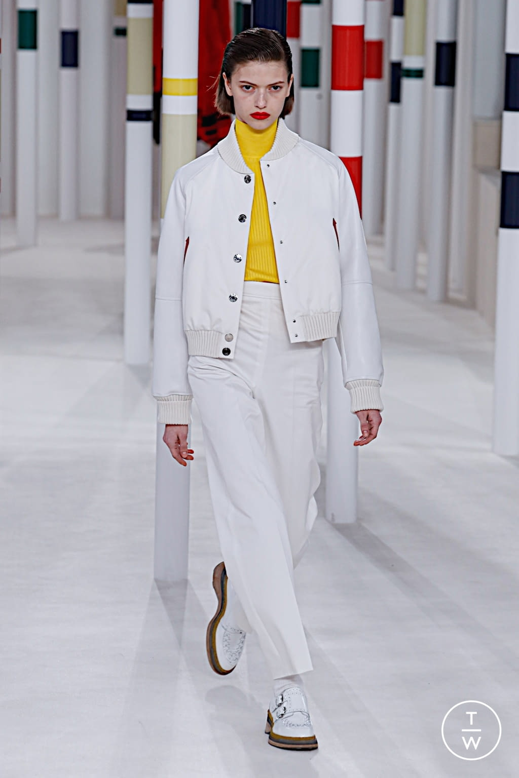 Fashion Week Paris Fall/Winter 2020 look 7 from the Hermès collection womenswear