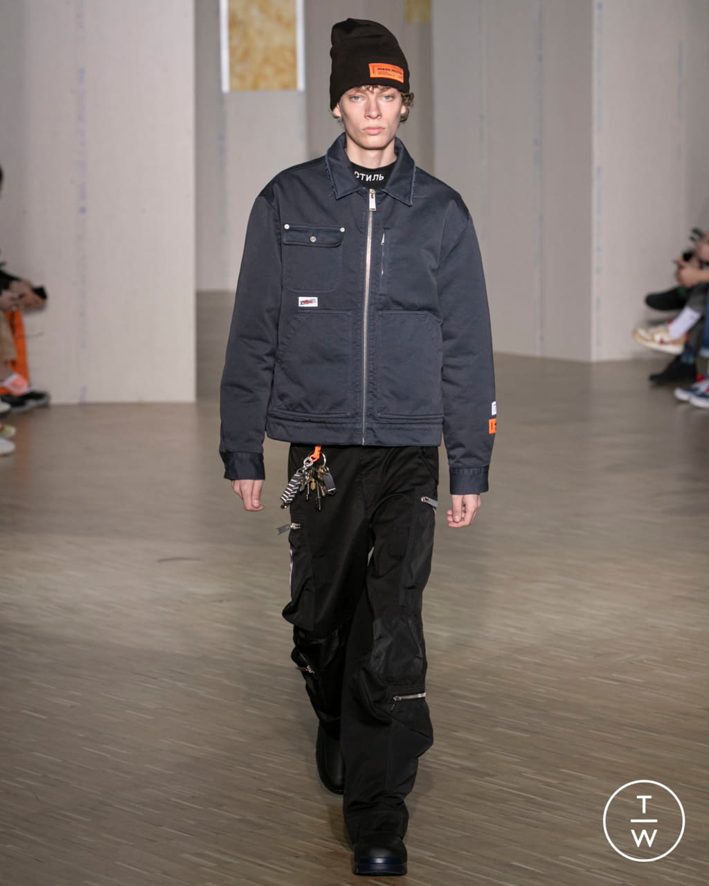 Fashion Week Paris Fall/Winter 2020 look 1 from the Heron Preston collection menswear