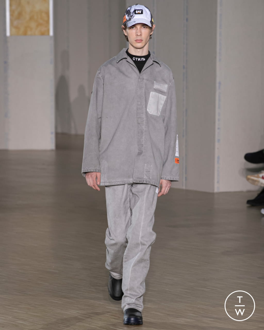 Fashion Week Paris Fall/Winter 2020 look 7 from the Heron Preston collection menswear