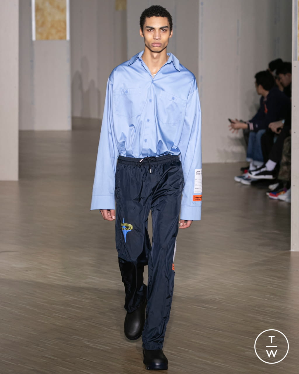 Fashion Week Paris Fall/Winter 2020 look 10 from the Heron Preston collection menswear