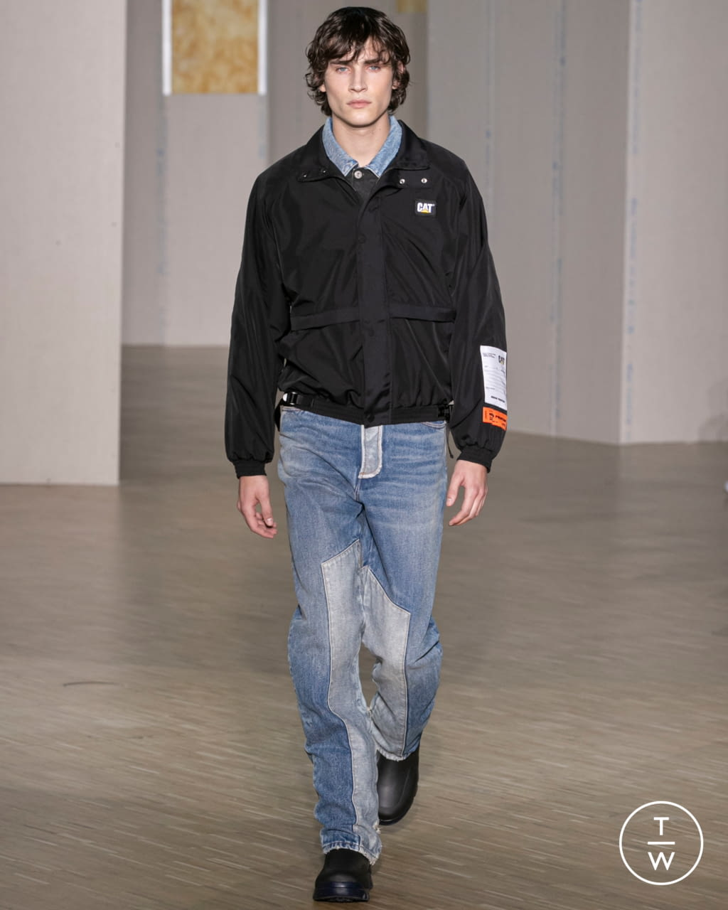 Fashion Week Paris Fall/Winter 2020 look 12 from the Heron Preston collection menswear