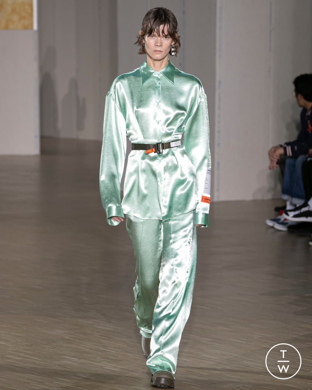 Fashion Week Paris Fall/Winter 2020 look 13 from the Heron Preston collection menswear