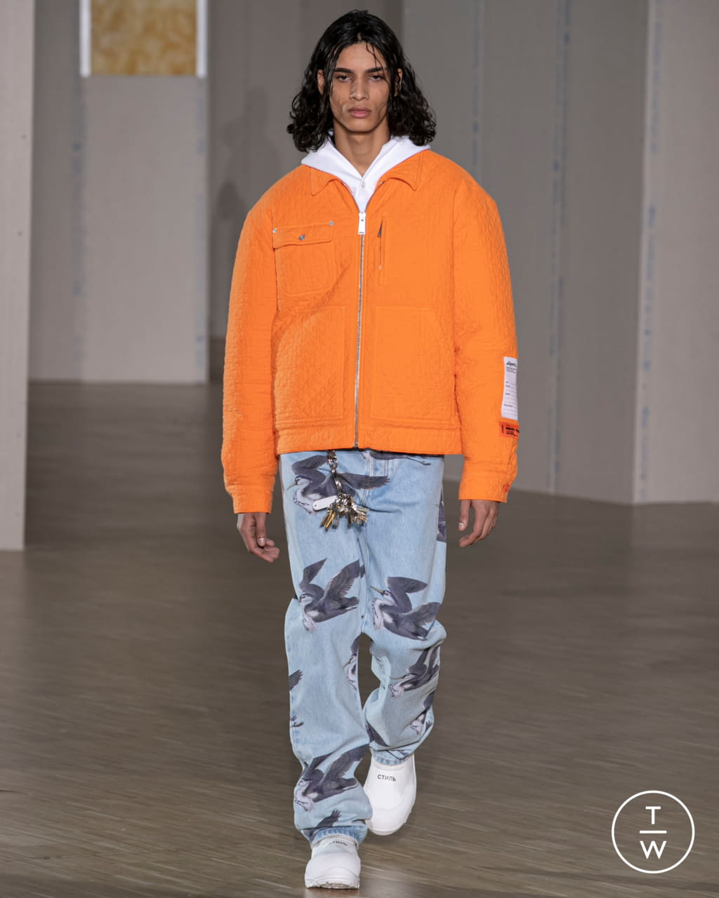 Fashion Week Paris Fall/Winter 2020 look 14 from the Heron Preston collection menswear
