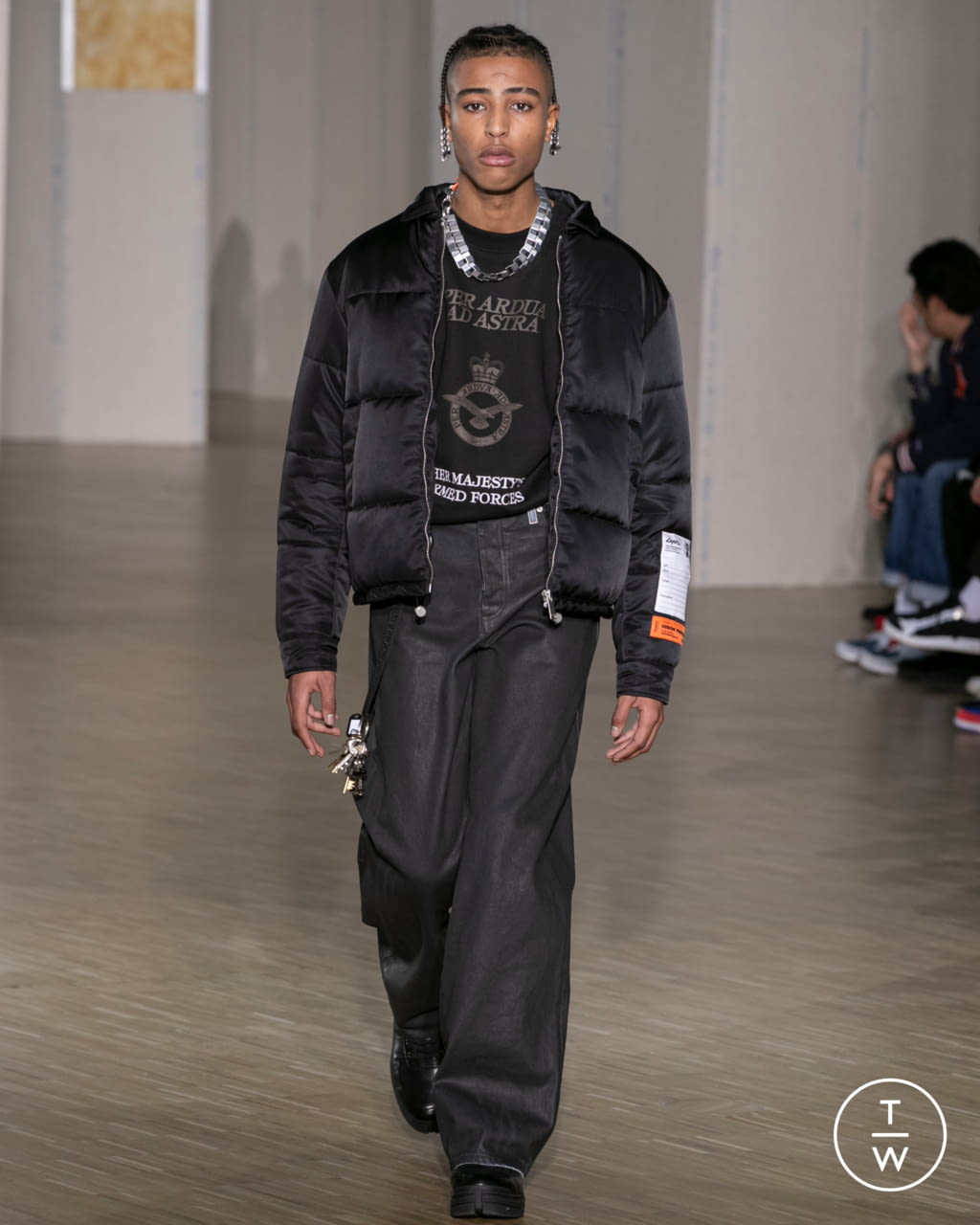 Fashion Week Paris Fall/Winter 2020 look 18 from the Heron Preston collection menswear
