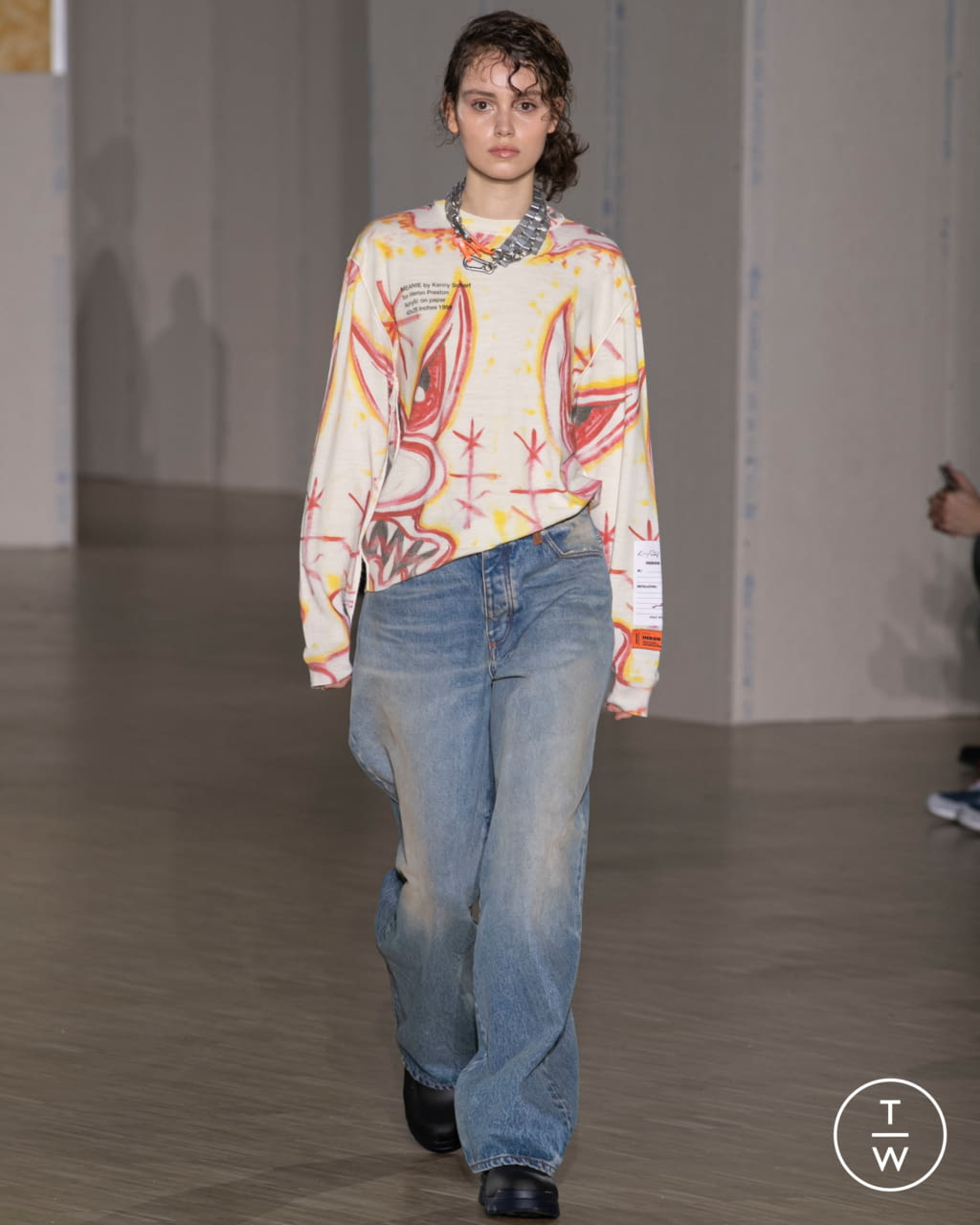 Fashion Week Paris Fall/Winter 2020 look 21 from the Heron Preston collection menswear