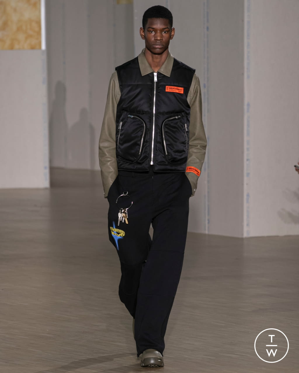 Fashion Week Paris Fall/Winter 2020 look 23 from the Heron Preston collection menswear