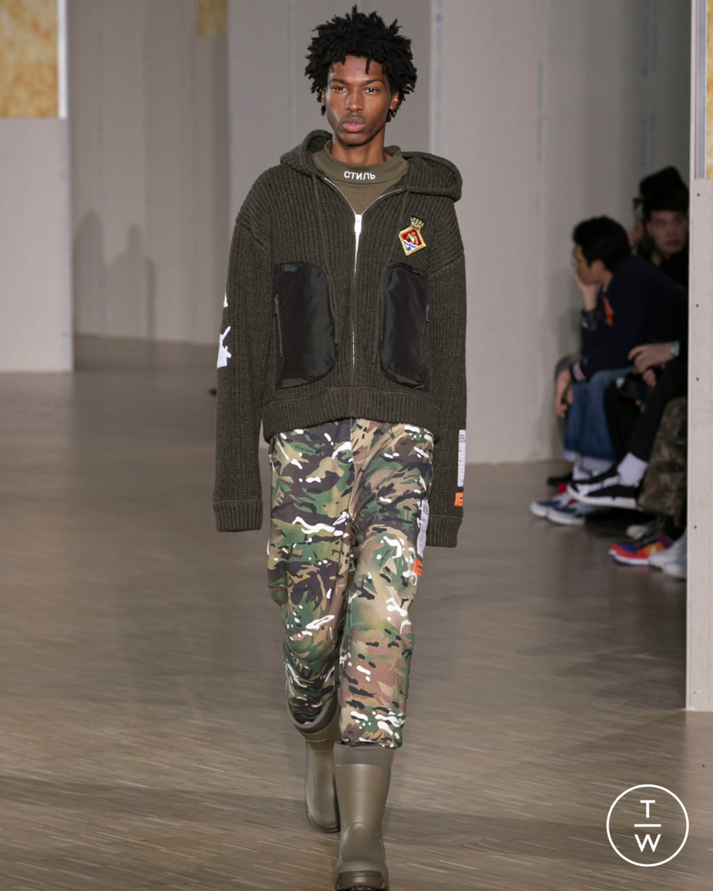 Fashion Week Paris Fall/Winter 2020 look 25 de la collection Heron Preston menswear