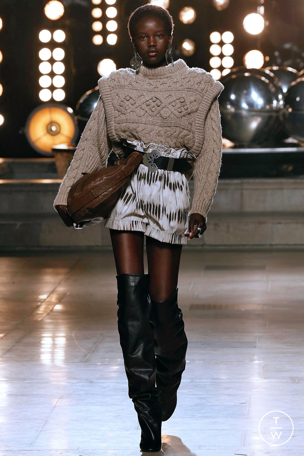 Fashion Week Paris Fall/Winter 2019 look 23 from the Isabel Marant collection womenswear