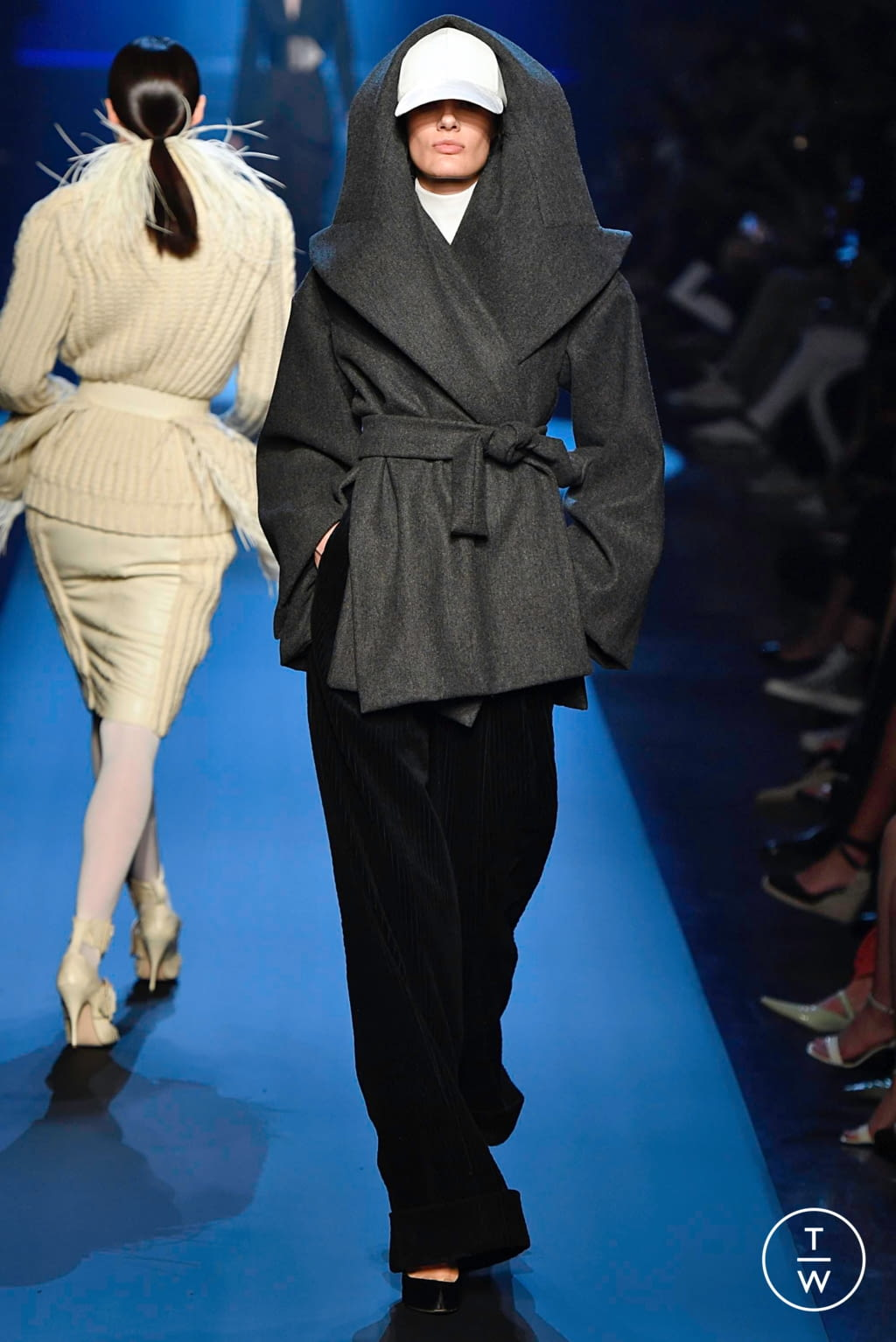 Fashion Week Paris Fall/Winter 2019 look 10 from the Jean Paul Gaultier collection couture