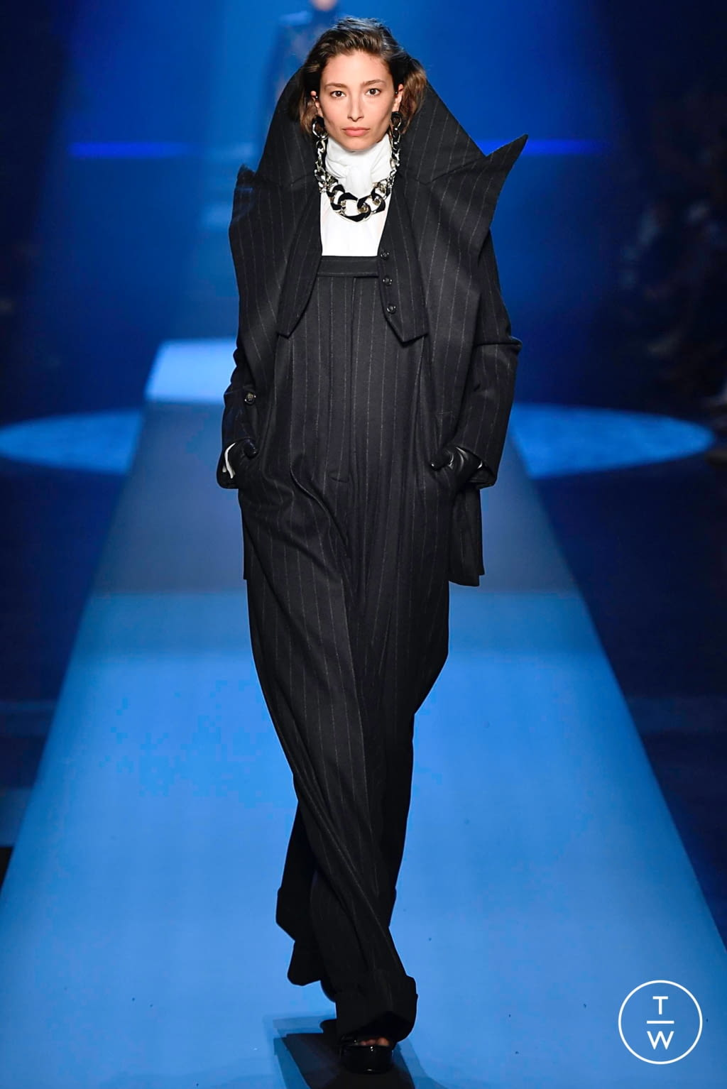 Fashion Week Paris Fall/Winter 2019 look 13 from the Jean Paul Gaultier collection couture