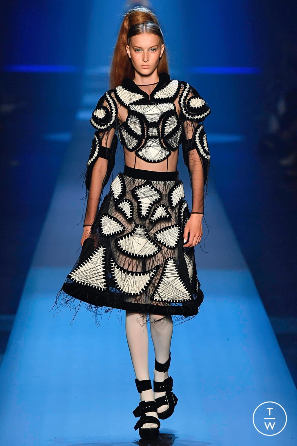 Fashion Week Paris Fall/Winter 2019 look 25 from the Jean Paul Gaultier collection couture