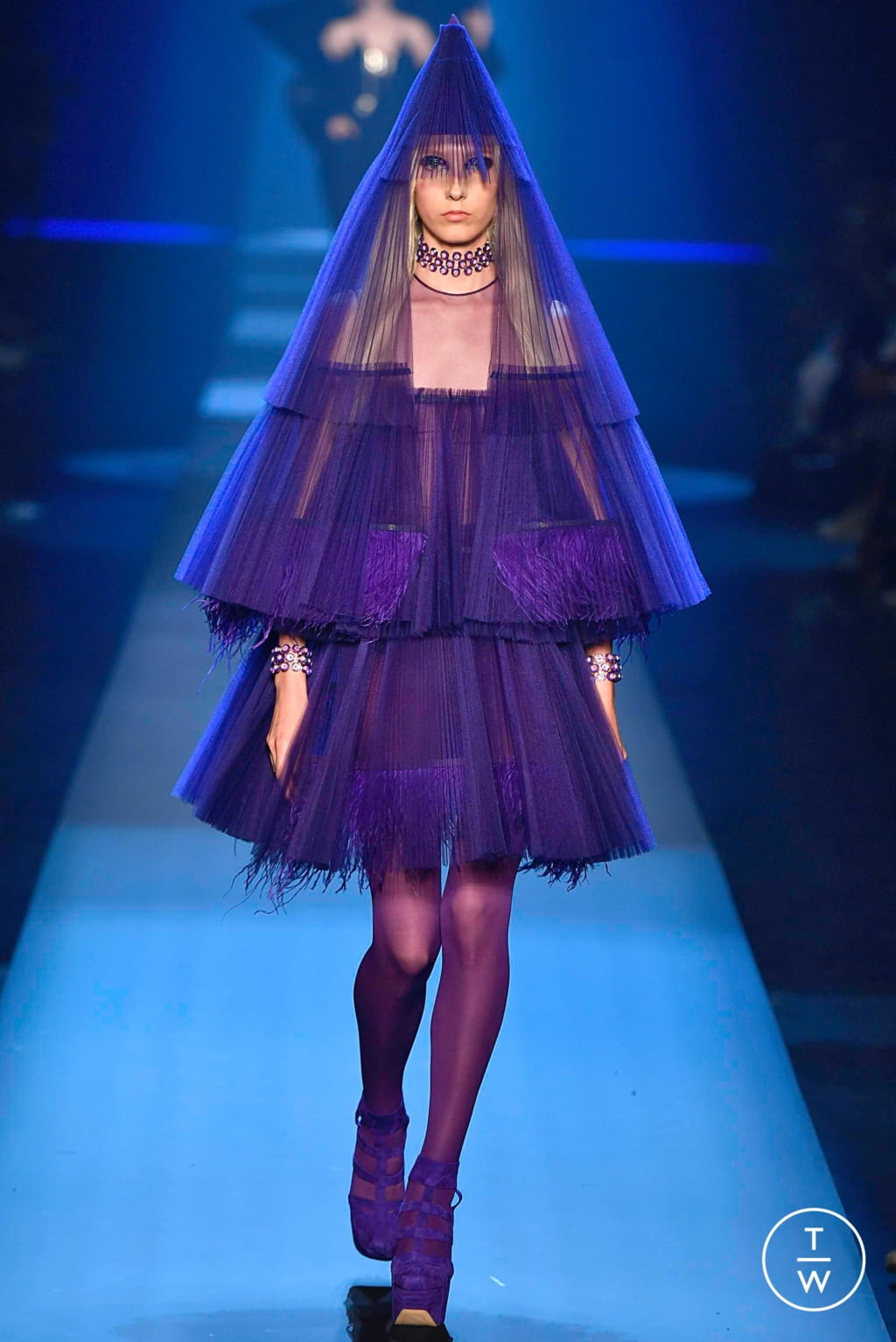 Fashion Week Paris Fall/Winter 2019 look 35 from the Jean Paul Gaultier collection couture