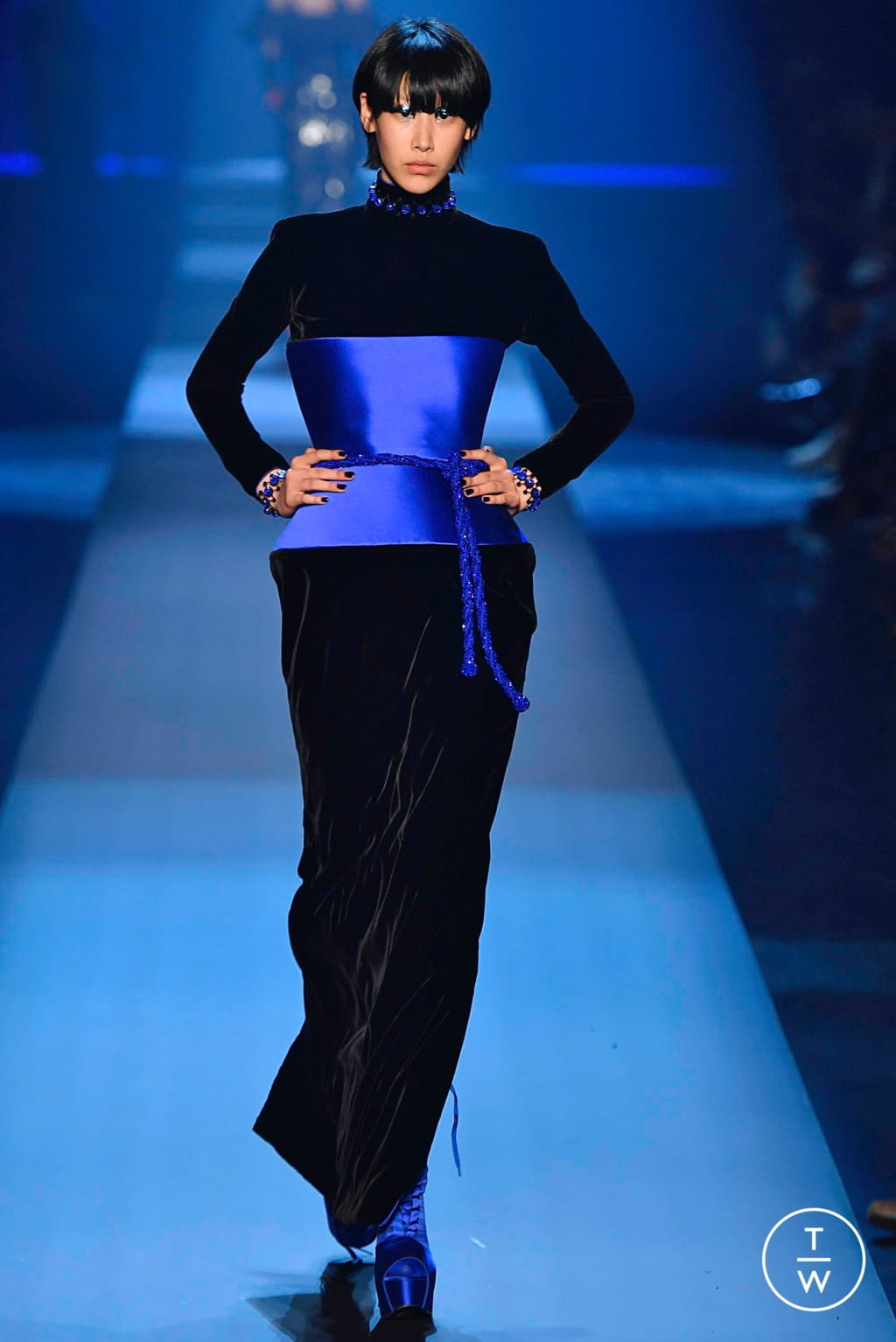 Fashion Week Paris Fall/Winter 2019 look 37 from the Jean Paul Gaultier collection couture