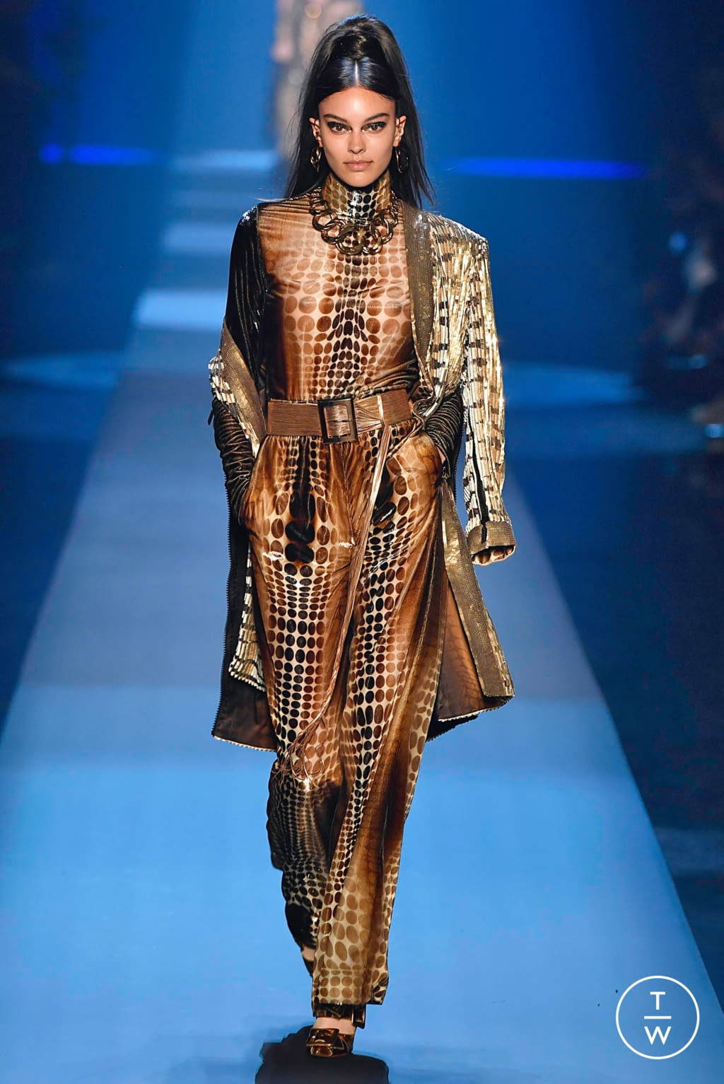 Fashion Week Paris Fall/Winter 2019 look 41 from the Jean Paul Gaultier collection couture
