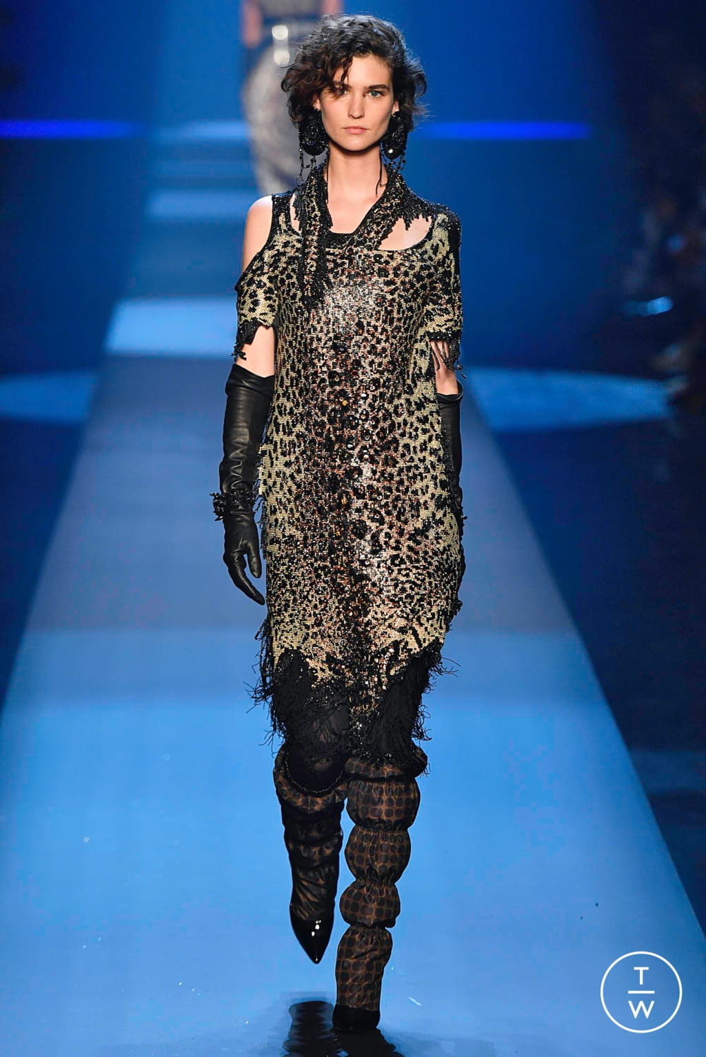 Fashion Week Paris Fall/Winter 2019 look 42 from the Jean Paul Gaultier collection couture