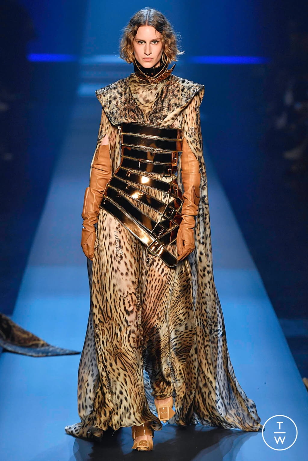 Fashion Week Paris Fall/Winter 2019 look 44 from the Jean Paul Gaultier collection couture