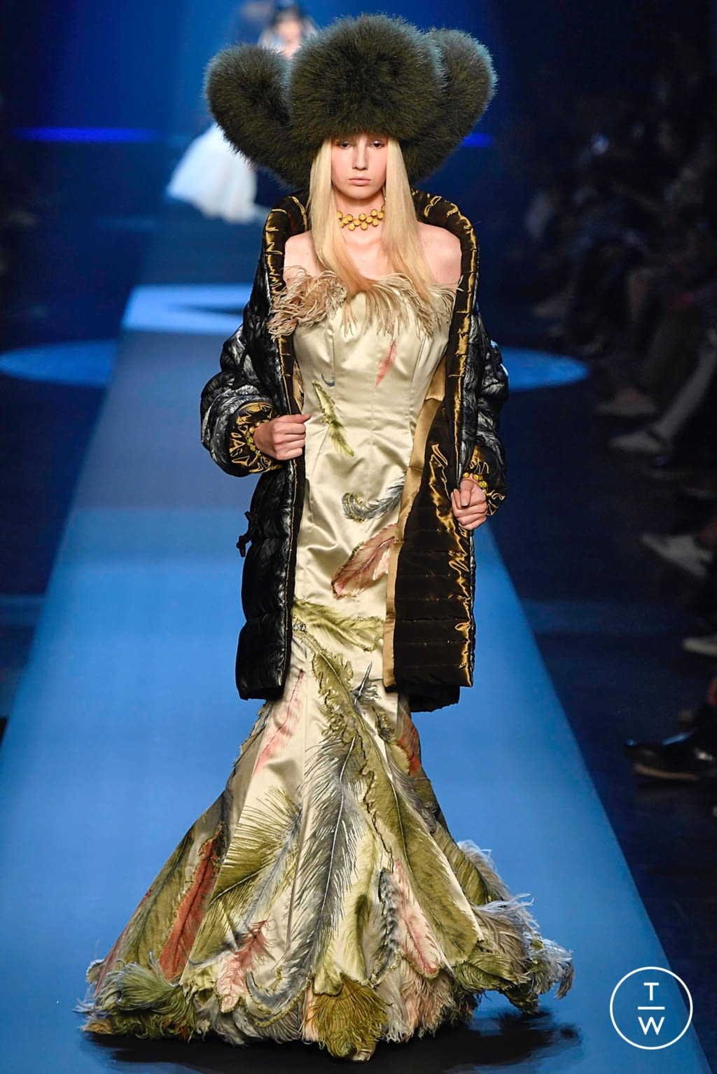 Fashion Week Paris Fall/Winter 2019 look 51 from the Jean Paul Gaultier collection couture