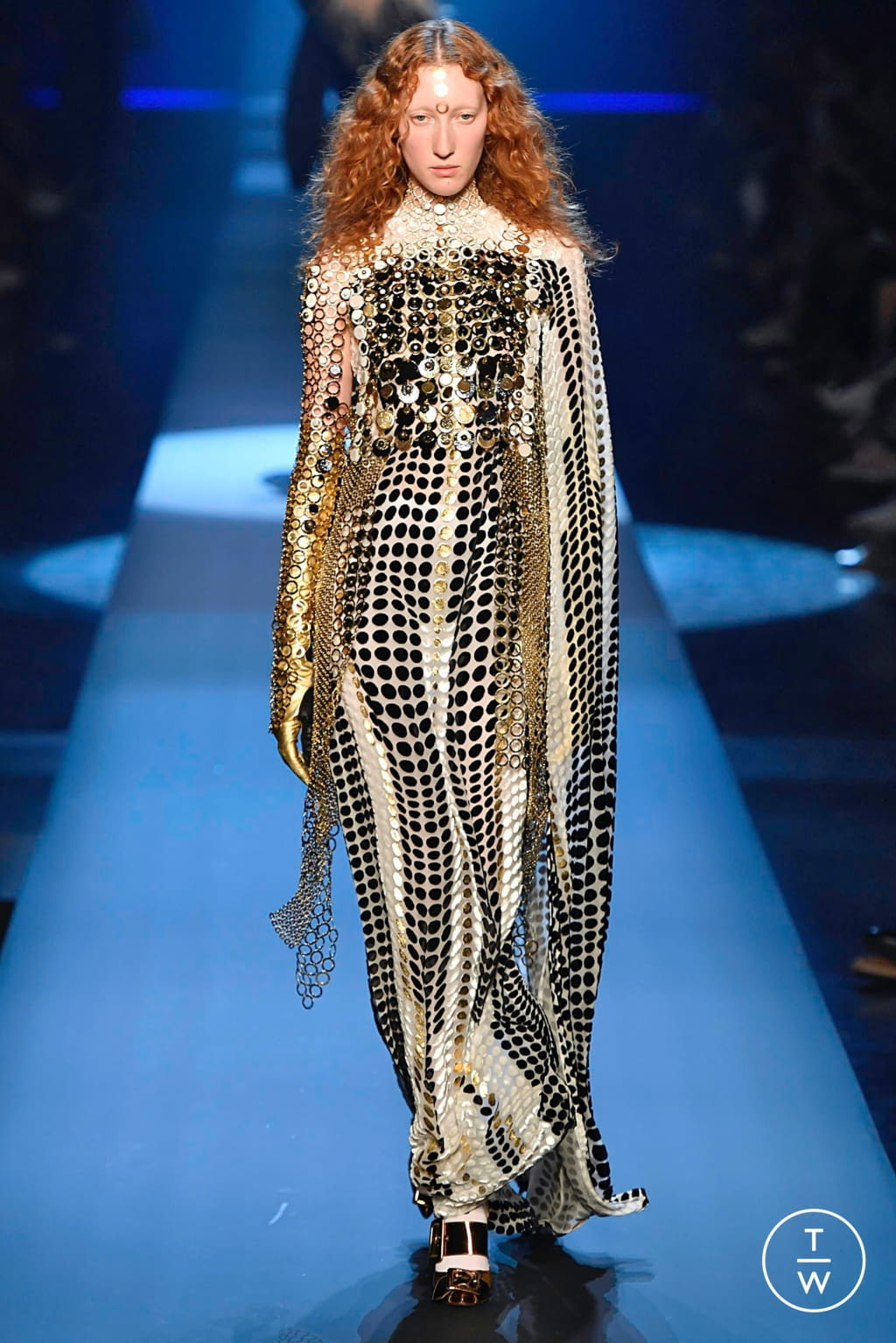 Fashion Week Paris Fall/Winter 2019 look 55 from the Jean Paul Gaultier collection couture