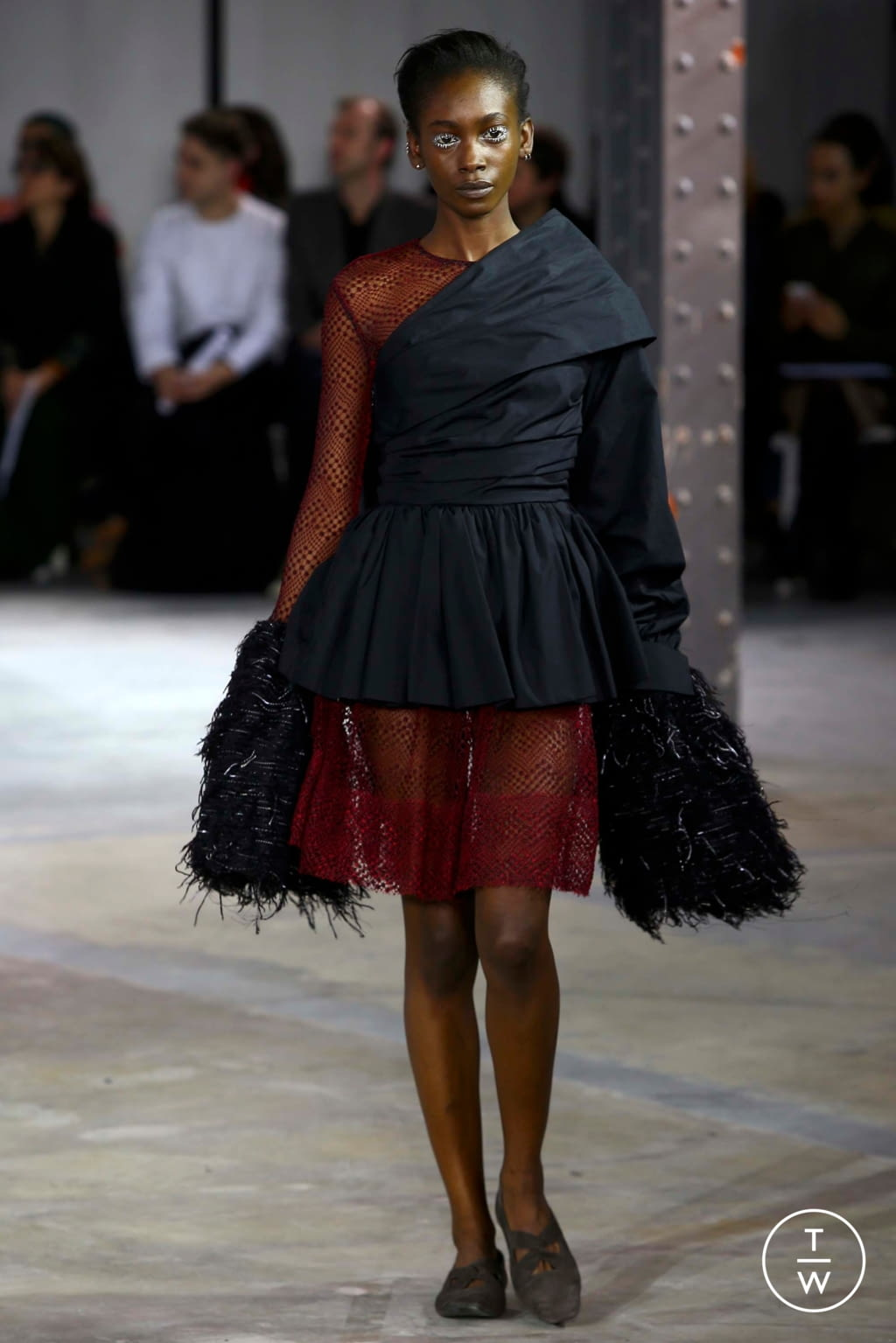 Fashion Week Paris Fall/Winter 2018 look 14 from the Anaïs Jourden collection womenswear