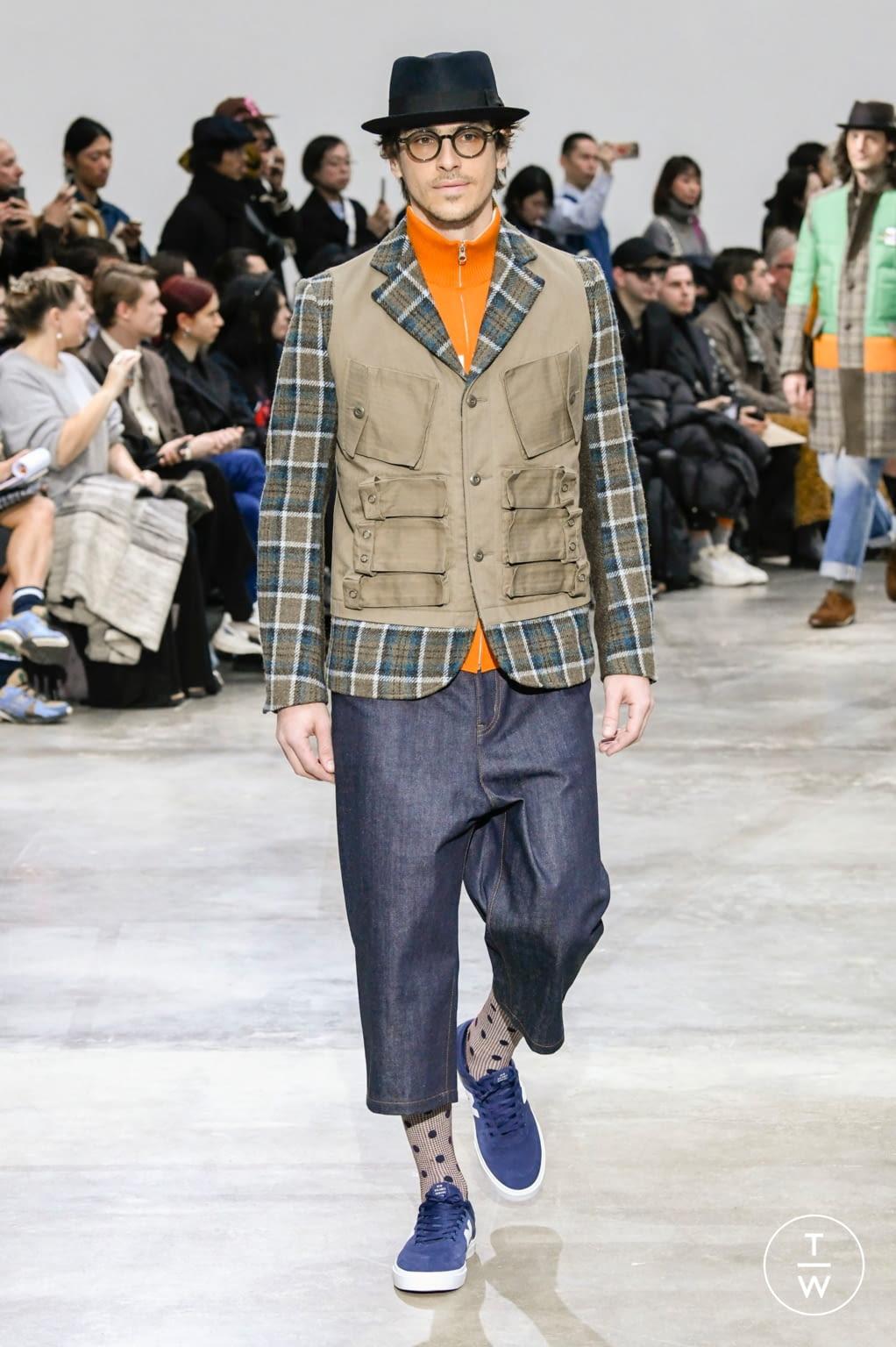 Fashion Week Paris Fall/Winter 2020 look 35 from the Junya Watanabe collection menswear