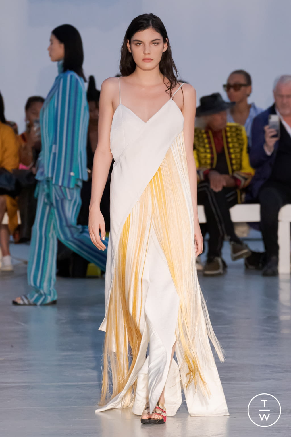 Fashion Week Paris Spring/Summer 2022 look 28 from the Kenneth Ize collection womenswear