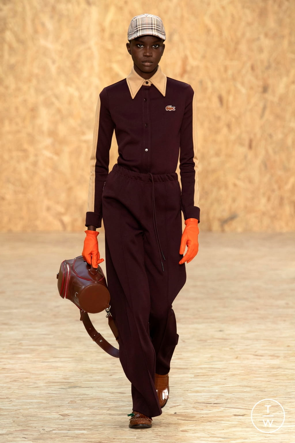 Fashion Week Paris Fall/Winter 2020 look 22 from the Lacoste collection womenswear