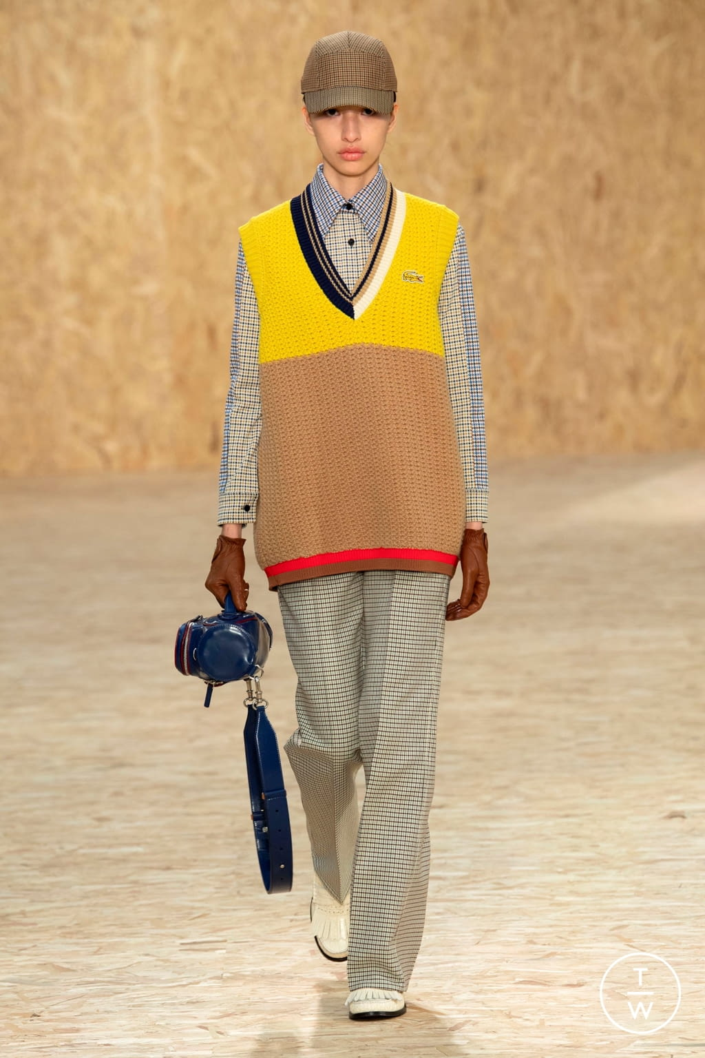 Fashion Week Paris Fall/Winter 2020 look 45 from the Lacoste collection womenswear