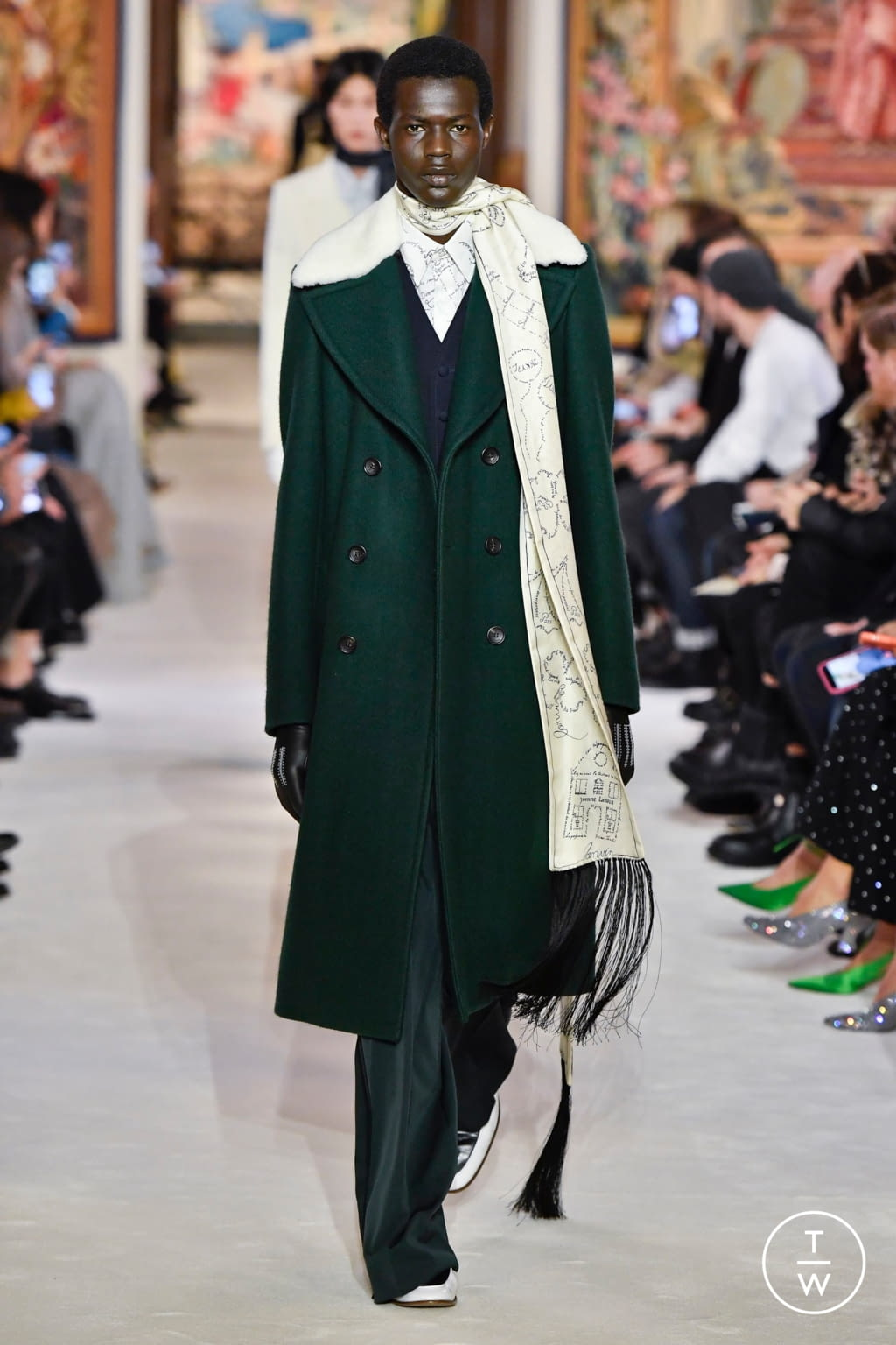 Fashion Week Paris Fall/Winter 2020 look 14 from the Lanvin collection womenswear