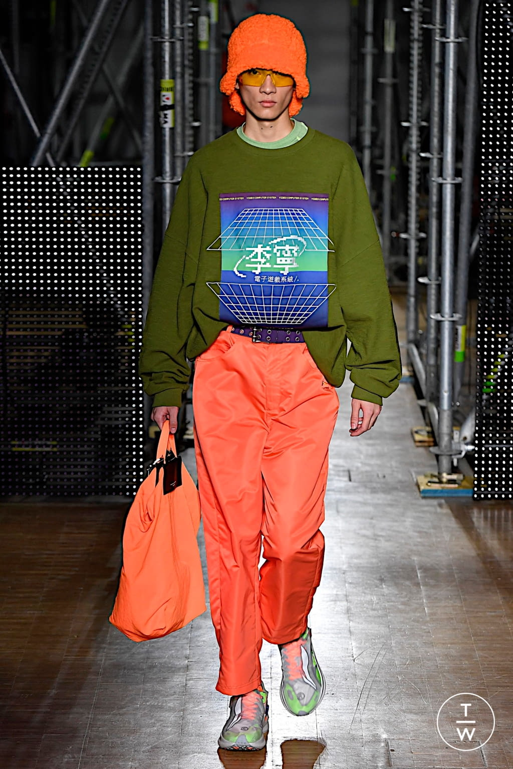 Fashion Week Paris Fall/Winter 2020 look 23 from the Li Ning collection menswear