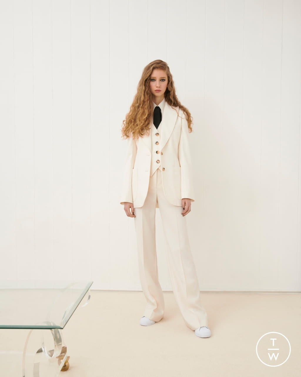 Fashion Week London Fall/Winter 2020 look 1 from the Bella Freud collection womenswear