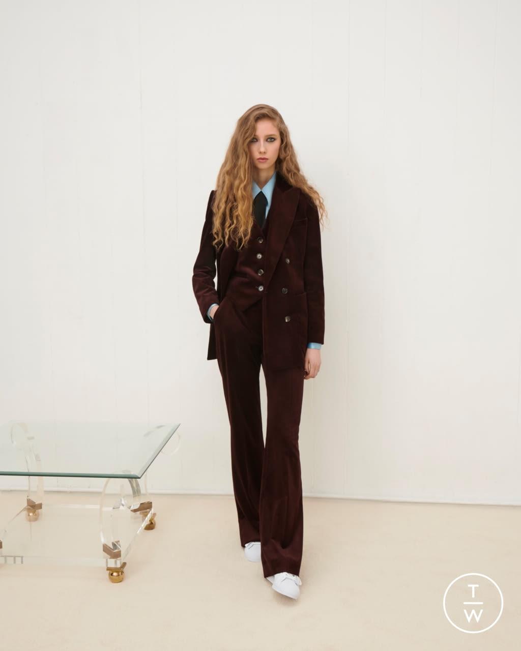 Fashion Week London Fall/Winter 2020 look 10 from the Bella Freud collection womenswear