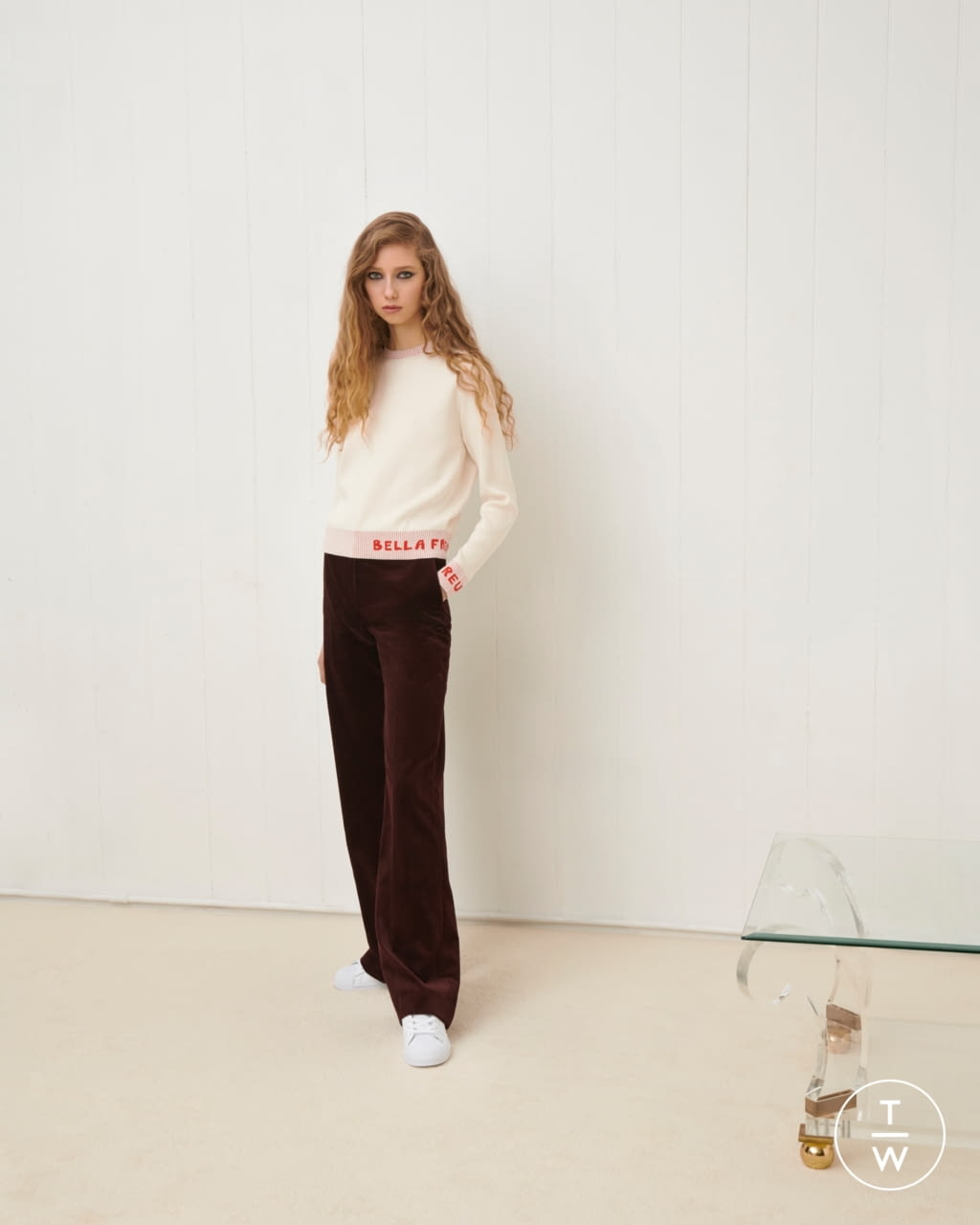Fashion Week London Fall/Winter 2020 look 11 from the Bella Freud collection womenswear