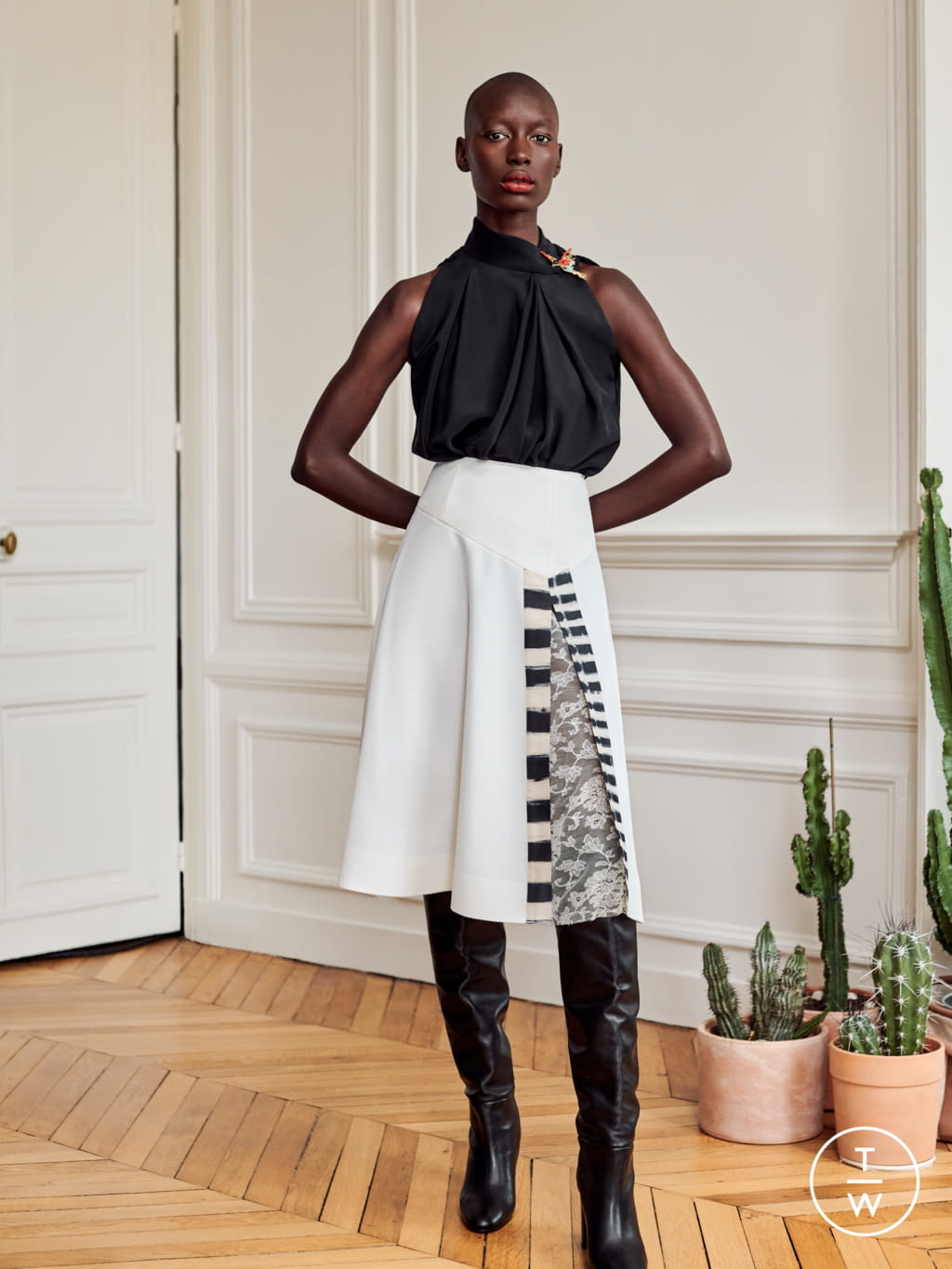 Fashion Week Paris Fall/Winter 2020 look 12 from the Alexandre Blanc collection womenswear
