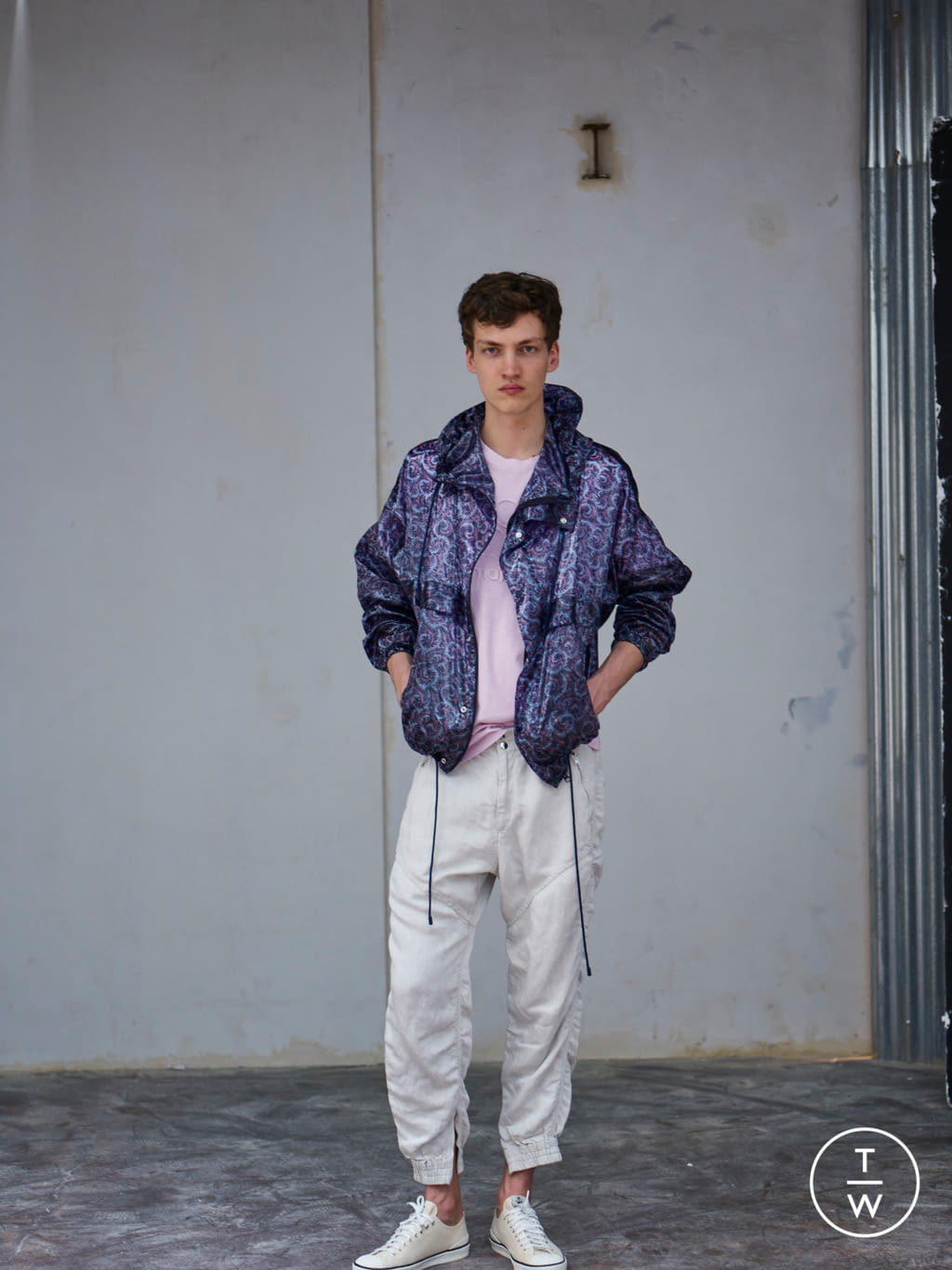 Fashion Week Paris Spring/Summer 2019 look 16 from the Isabel Marant collection menswear