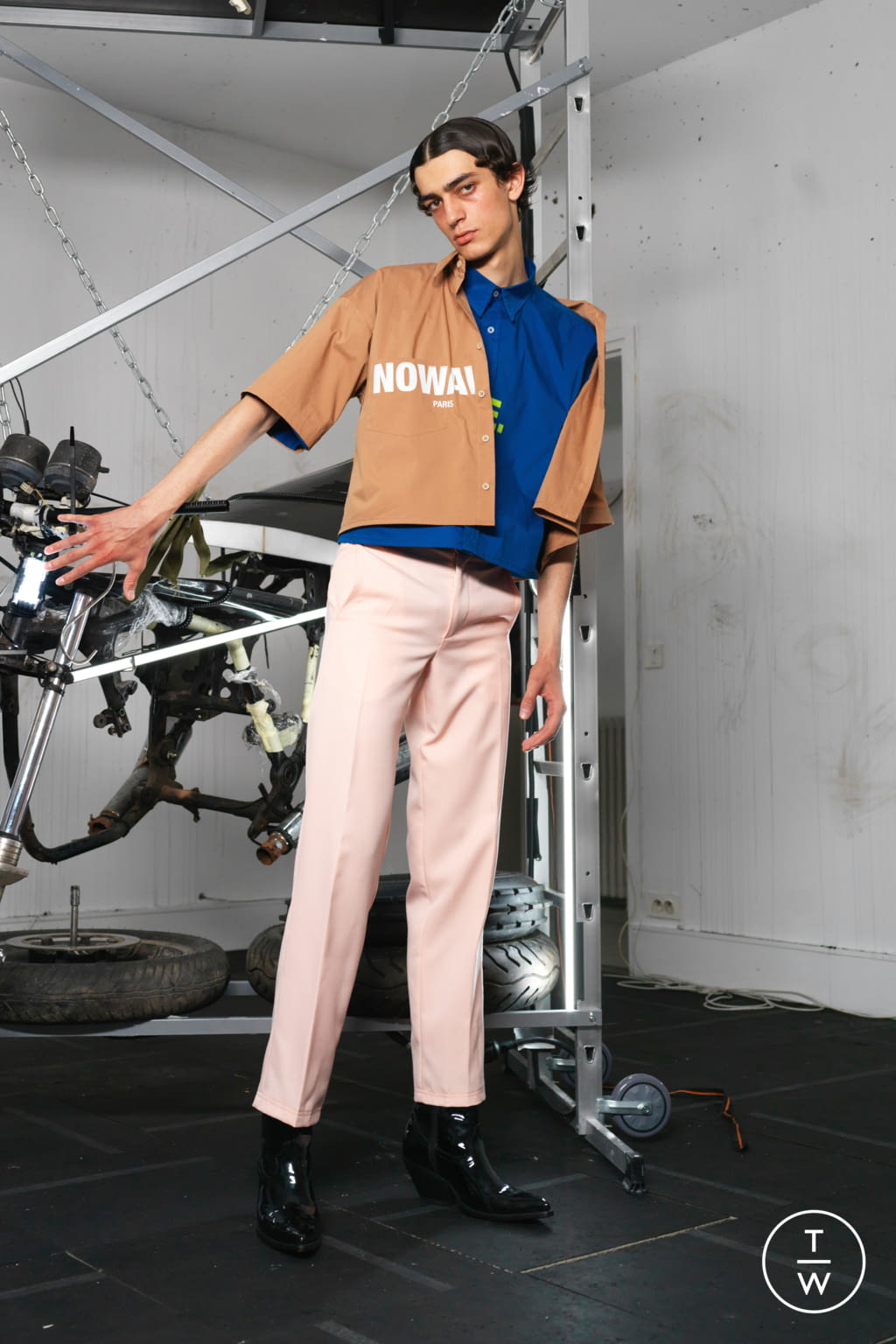 Fashion Week Paris Spring/Summer 2019 look 18 from the Ex Infinitas collection menswear