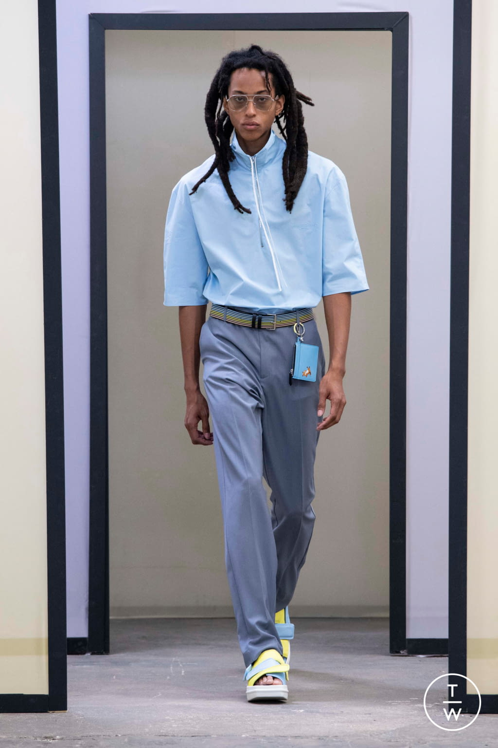 Fashion Week Paris Spring/Summer 2020 look 6 from the Maison Kitsuné collection menswear