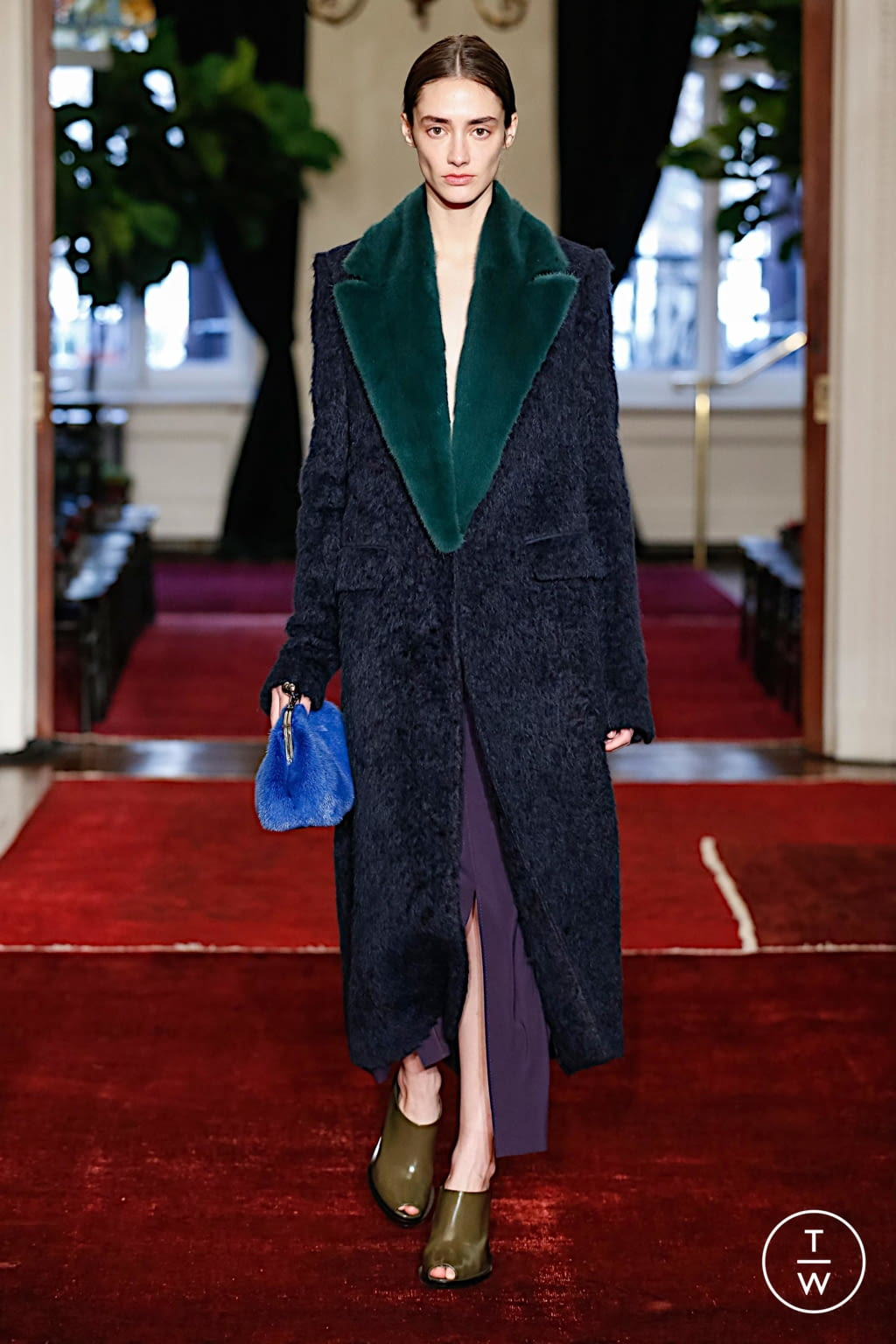 Fashion Week New York Fall/Winter 2020 look 2 from the Marina Moscone collection womenswear