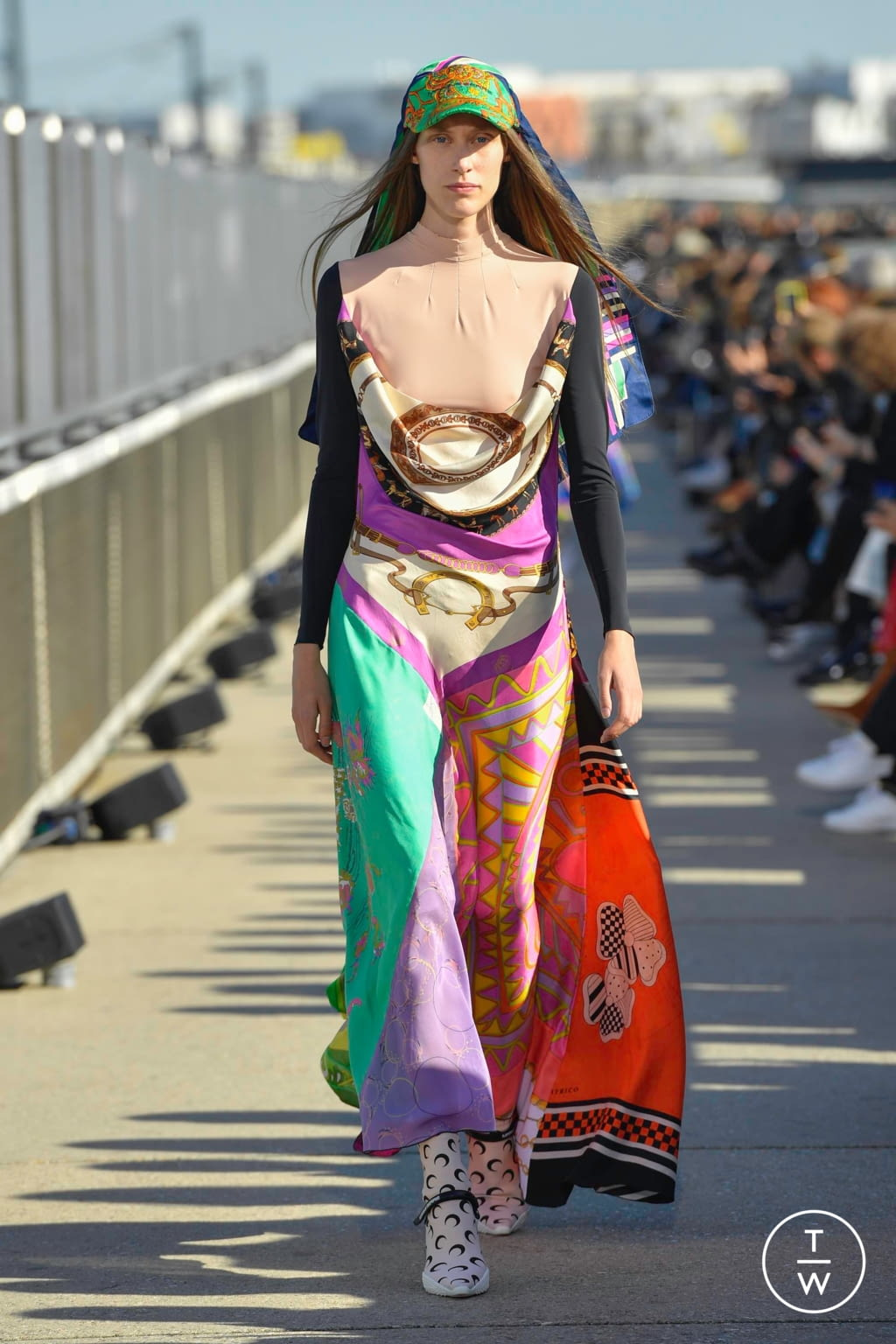 Fashion Week Paris Spring/Summer 2019 look 1 from the Marine Serre collection womenswear