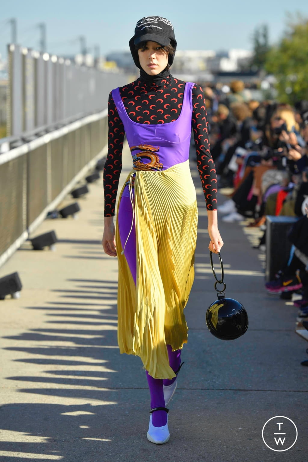 Fashion Week Paris Spring/Summer 2019 look 9 from the Marine Serre collection womenswear