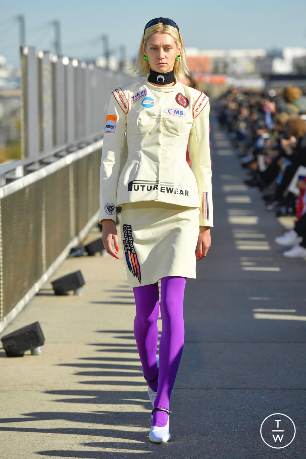 Fashion Week Paris Spring/Summer 2019 look 13 from the Marine Serre collection womenswear