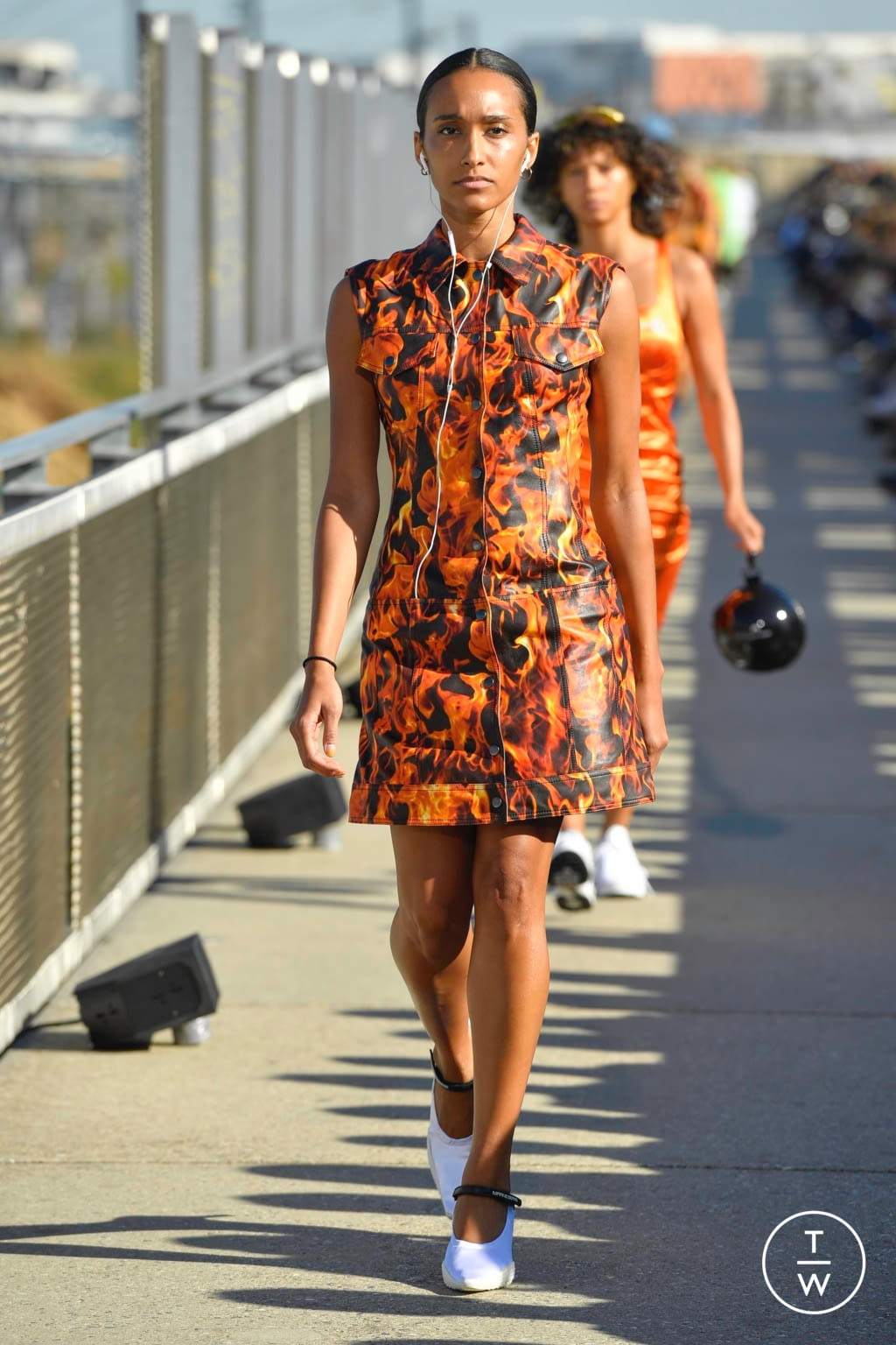 Fashion Week Paris Spring/Summer 2019 look 26 from the Marine Serre collection womenswear