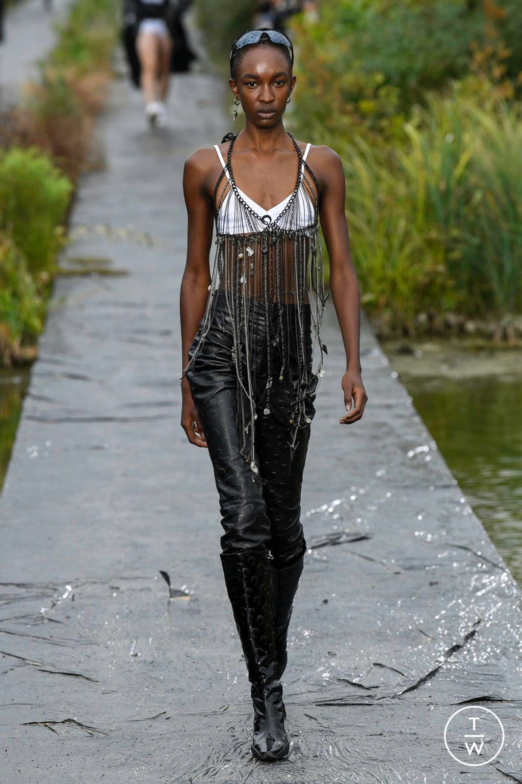 Fashion Week Paris Spring/Summer 2020 look 6 from the Marine Serre collection womenswear