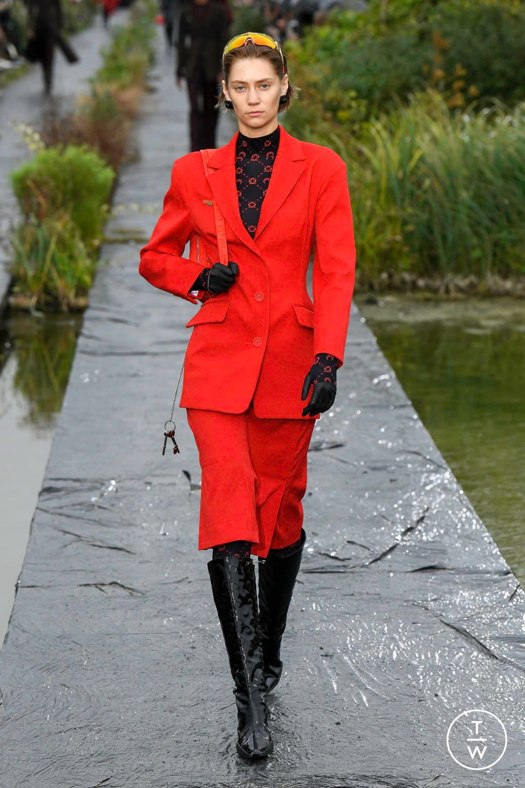 Fashion Week Paris Spring/Summer 2020 look 14 from the Marine Serre collection womenswear