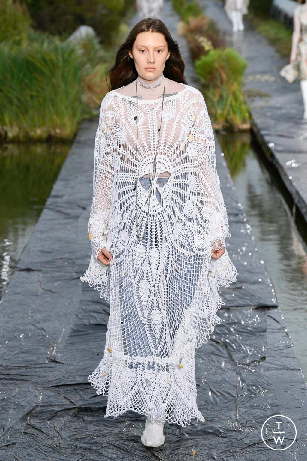 Fashion Week Paris Spring/Summer 2020 look 26 from the Marine Serre collection womenswear