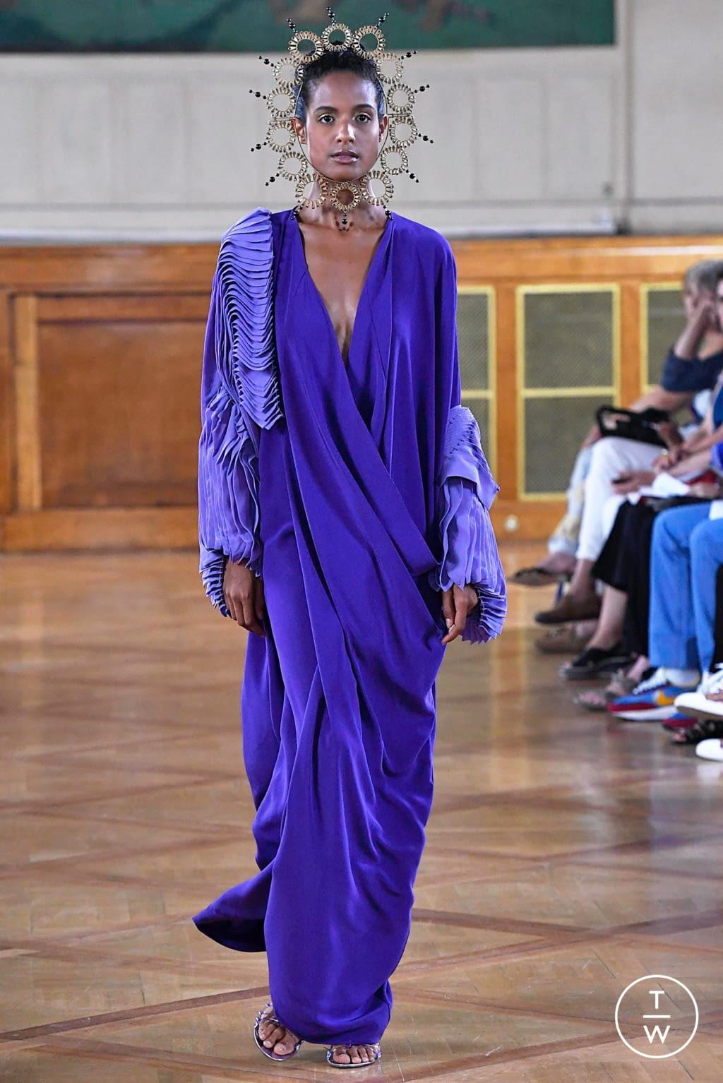 Fashion Week Paris Fall/Winter 2019 look 20 de la collection Maurizio Galante couture