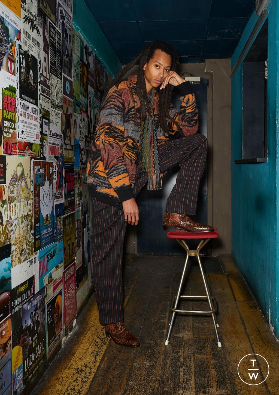 Fashion Week Milan Fall/Winter 2020 look 4 de la collection Missoni menswear